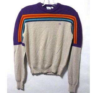 Vintage 80's retro OP stripe sweater top